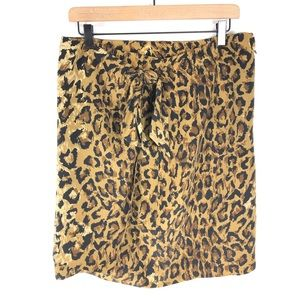 Saks Fifth Avenue vintage  wrap leopard silk skirt